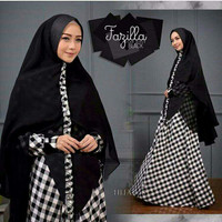 KD- Fazilla Syari( 3 WARNA)/Gamis Syari Set Bergo Elegant Muslim