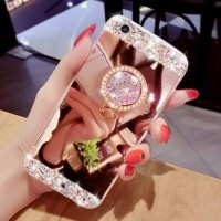 Softcase Diamond Crystal Mirror Ring Cover Case Casing HP Oppo Neo 5