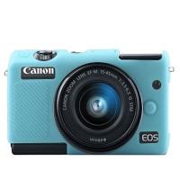 Silicone Canon EOS M100 Silikon Case Silicon Kamera Mirrorless - Biru