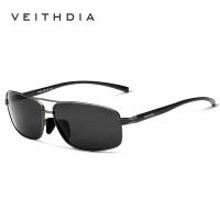 Kacamata/Sunglass Hitam UV 400 Lensa Polarized Original Veithdia 2458