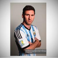 Poster dinding - hiasan - seni cetak - LEONEL MESSI Argentina 2014