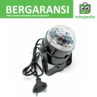 Proyektor Hias Crystal Magic Ball 7 Color LED Disco Remote Control -