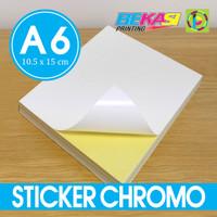 Sticker Chromo / Stiker Glossy A6 untuk Label Pengiriman Marketplace