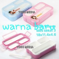 NEW Tempat Makan Grid Lunch Box Bento Fashion Anak Yooyee Mini 3 Sekat