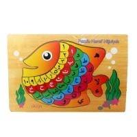 Mainan Anak Puzzle Huruf Hijaiyah Ikan