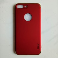 Casing HP Iphone 7 Plus SMX 3 in 1 Protection Case Red Merah