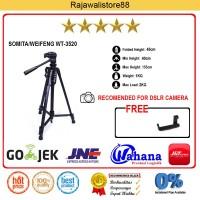 Somita Tripod DSLR - WT-3520 - Hitam - For Canon, Nikon, Sony Fujifilm