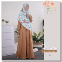Hana Linen Dress Gold Jewelery by Shafeeya / Gamis Linen