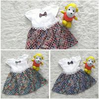 Little Baju Dress Batik Pesta Anak Perempuan Atas Putih 2-4 Tahun