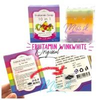 Harga fruitamin soap 10 in 1 by wink white 100 ori sabun pemutih | Hargalu.com
