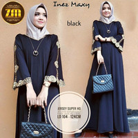 Inez maxi by zm Long dress gamis maxi abaya arab bordir