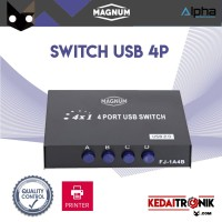 Switch USB 4 Port MAGNUM 1A4B AB manual printer data switch scanner