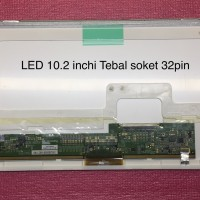 Layar LCD LED Laptop Dell 10.2inchi Soket 30Pin Standar Tebal 1023LSTD