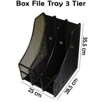 Box File Tray 3 Tier / Rak Besi Sekat Vertikal Arsip Document Organize