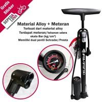 Pompa Sepeda Alloy Dengan Meteran Dual Pentil Avand PMA 7038