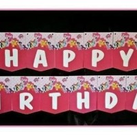Bunting Flag / Banner Flag Happy Birthday The Little Pony No. 131