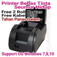 Mini Printer Kasir Thermal QPOS 58mm Q58M USB Cash Drawer Bebas Tinta