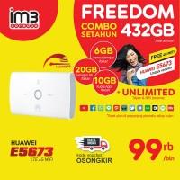 Huawei Mifi E5673 UNLOCK 4G Bundling Indosat IM3 FREEDOM 432GB 1 Tahun