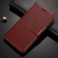 Flip Cover Leather Wallet Dompet Skin Case Casing HP Samsung A6 Plus