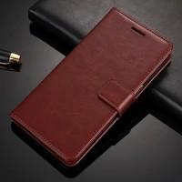 Flip Cover Leather Wallet Dompet Kulit Case Casing HP Vivo V7 Plus