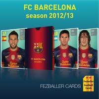 kartu bola Fezballer Card FC BARCELONA season 2012/2013