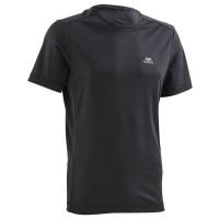 Kalenji Run Dry Kaus Olahraga Lari Nyaman dan Cepat Serap Keringat Ori - Hitam, M