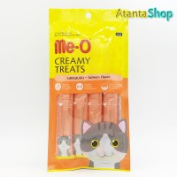 Me-O - Salmon Flavor Creamy Treats Cemilan Kucing meo isi 4 sachet