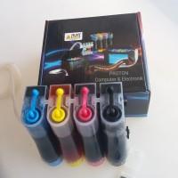 Tabung infus + tinta asli Alfa ink komplit untuk modif printer Canon
