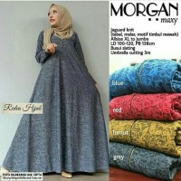 Morgan Gamis Umbrella Busui Jaguar Muslim Klok Dress Murah