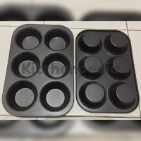 Jual Loyang / Cetakan Kue / Muffin Pan / Cup Cake Teflon Non Stick (6 Cup) Murah