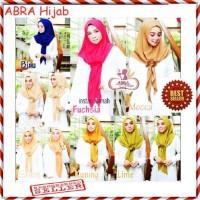 Hijab Bawal Rose / Kerudung Pashmina Instan Motif / Jilbab Lamiz - AJM