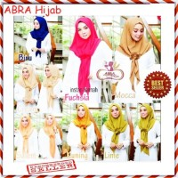 Hijab Umama Satin / Krudung Crepe Jumbo / Jilbab Motif Segiempat - AJM