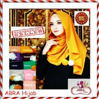 Krudung Crepe Jumbo / Hijab Umama Satin / Jilbab Motif Segiempat - AZN