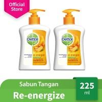 Dettol Sabun Cuci Tangan Re-energize - Pump 225mL x 2 pcs - Hand Wash