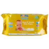 PURE BABY Hand & Mouth Baby Wipes 60sheets | Tissue Basah Bayi