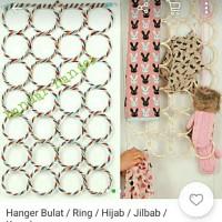 Gantungan syal unik untuk gantungan jilbab ring 28 gantungan
