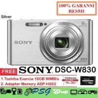 Sony DSC W830 Silver Kamera Digital Free Memory 16GB Murah