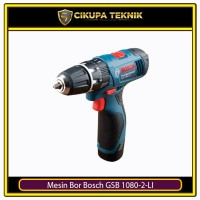 Mesin Bor & Obeng Kayu Baja Beton Tanpa Kabel Bosch GSB 1080-2-LI