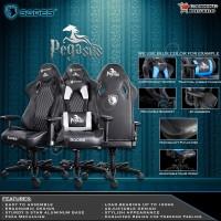 Sades Pegasus - Gaming Chair - Kursi Gaming Sades Pegasus - White
