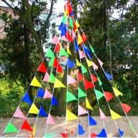 Bendera Segitiga Festival Warna Warni / Bunting Flag Warna Warni