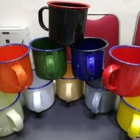 Mug jadul Mug Enamel Warna 7cm Gift Hadiah Unik