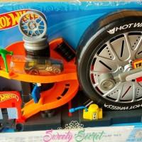 Hot Wheels City Super Spin Tire Shop Play Set ORIGINAL SNI