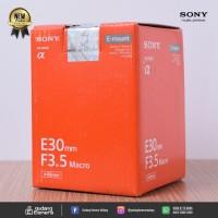 [NEW] SONY E 30mm f/3.5 Macro @Gudang Kamera Malang
