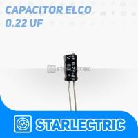 Kapasitor Elco Capasitor 0.22 uF 0.22uF 50V