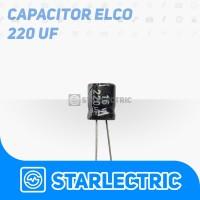 Kapasitor Elco Capasitor 220 uF 220uF 16V