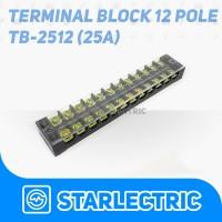 Terminal Blok Kaca 12 pole 25A TB Series 2512 Terminal Block TB-2512
