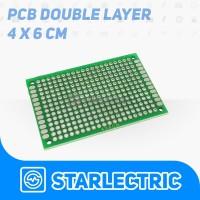 PCB lubang Double Layer Trough Hole 4x6 cm PCB Dua Sisi