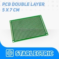 PCB lubang Double Layer Trough Hole 5x7 cm PCB 5*7 Dua Sisi