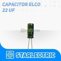 Kapasitor Elco Capasitor 22 UF 22uF 50V