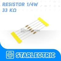 Resistor 33K 33000 33000R Ohm 1/4 W 5% 5pcs/pack